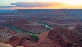 Dood Paardpunt, Utah, de V.S. royalty-vrije stock afbeeldingen
