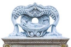 Dood van Boedha, Standbeeld in Wat Pariwat Stock Foto's