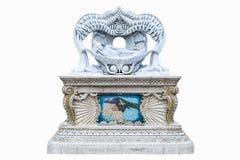 Dood van Boedha, Standbeeld in Wat Pariwat, in Thailand Royalty-vrije Stock Foto's