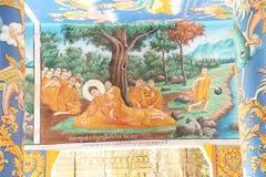 Dood van de fresko van Boedha Stock Afbeeldingen