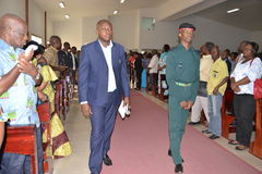 DOOD VAN een PARTIJ VAN BARON Laurent Gbagbo Stock Afbeeldingen