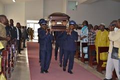 DOOD VAN een PARTIJ VAN BARON Laurent Gbagbo Royalty-vrije Stock Foto's
