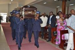 DOOD VAN een PARTIJ VAN BARON Laurent Gbagbo Stock Foto's