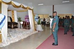 DOOD VAN een PARTIJ VAN BARON Laurent Gbagbo Royalty-vrije Stock Afbeeldingen