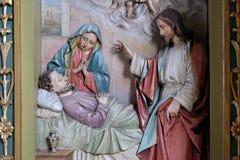 Dood van Saint Joseph Royalty-vrije Stock Afbeeldingen