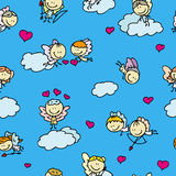 Doode love pattern Royalty Free Stock Images