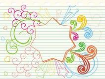 doodle αστέρι Στοκ εικόνα με δικαίωμα ελεύθερης χρήσης