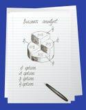 Doodle γύρω από το διάγραμμα Στοκ εικόνα με δικαίωμα ελεύθερης χρήσης