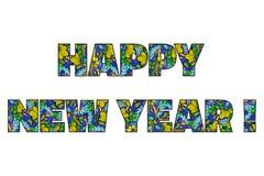 doodle καλή χρονιά Στοκ φωτογραφίες με δικαίωμα ελεύθερης χρήσης