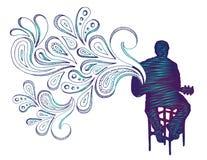 doodle κιθαρίστας Στοκ φωτογραφία με δικαίωμα ελεύθερης χρήσης