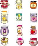 doodle μαρμελάδα στοιχείων Στοκ εικόνα με δικαίωμα ελεύθερης χρήσης
