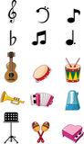doodle μουσική ελεύθερη απεικόνιση δικαιώματος