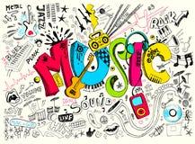 doodle μουσική Στοκ Εικόνα