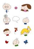 doodle οικογενειακό σύνολο Στοκ Εικόνα