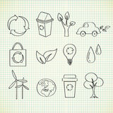 doodle οικολογία Στοκ φωτογραφίες με δικαίωμα ελεύθερης χρήσης