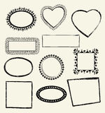 doodle πλαίσια Στοκ Εικόνες