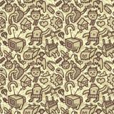 doodle πρότυπο άνευ ραφής διανυσματική απεικόνιση