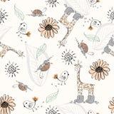 doodle πρότυπο άνευ ραφής Στοκ φωτογραφία με δικαίωμα ελεύθερης χρήσης