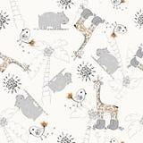 doodle πρότυπο άνευ ραφής Στοκ Εικόνες