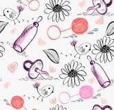 doodle πρότυπο άνευ ραφής Στοκ Φωτογραφία