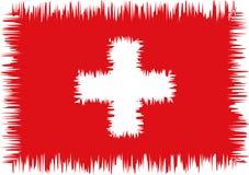 doodle σημαία τυποποιημένος Ελβετός Στοκ Εικόνες