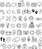 doodle σύνολο εικονιδίων eco Στοκ φωτογραφία με δικαίωμα ελεύθερης χρήσης