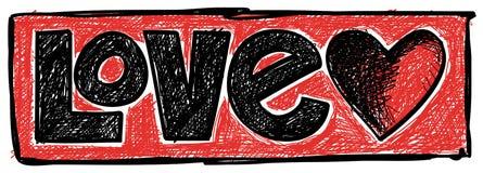 Doodle της αγάπης Στοκ Φωτογραφίες