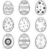 Doodle του συνόλου αυγών Πάσχας