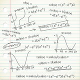 doodle τύπος μαθηματικός Στοκ φωτογραφίες με δικαίωμα ελεύθερης χρήσης