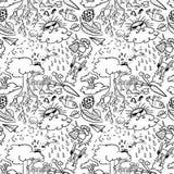 doodle безшовный иллюстрация штока