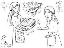Doodle вектора печет торт иллюстрация вектора