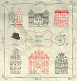 Doodle вектора сделанный эскиз к рукой винтажный старый введенный в моду иллюстрация вектора