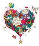 Doodle влюбленности Стоковое фото RF