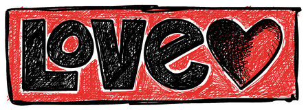 Doodle влюбленности Стоковые Фото