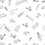 Doodle детей с автомобилями и людьми Стоковое фото RF
