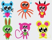 doodle животных милый Стоковое Изображение