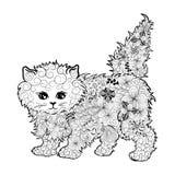 Doodle котенка Стоковые Фотографии RF