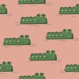 Doodle крокодила Стоковая Фотография RF