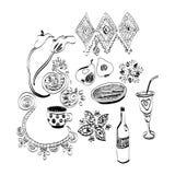 Doodle кухни Стоковые Изображения RF