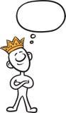 Doodle малая персона - стоящ как король иллюстрация штока