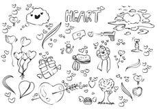 Doodle мультфильма любов стоковые фото