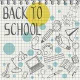 Doodle назад к школе с карандашем Стоковое фото RF