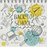 Doodle назад к школе Стоковые Изображения
