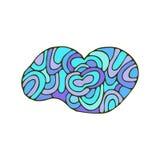 Doodle облака Этнический вихрь чертежа руки иллюстрация вектора