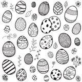 Doodle пасхальных яя Стоковая Фотография RF
