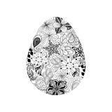 Doodle пасхального яйца Стоковые Фото
