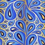 Doodle Пейсли картина безшовная иллюстрация вектора