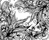 doodle предпосылки Стоковые Изображения RF