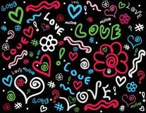 doodle предпосылки Стоковое Изображение RF