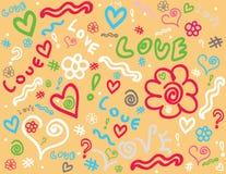 doodle предпосылки Стоковые Фотографии RF